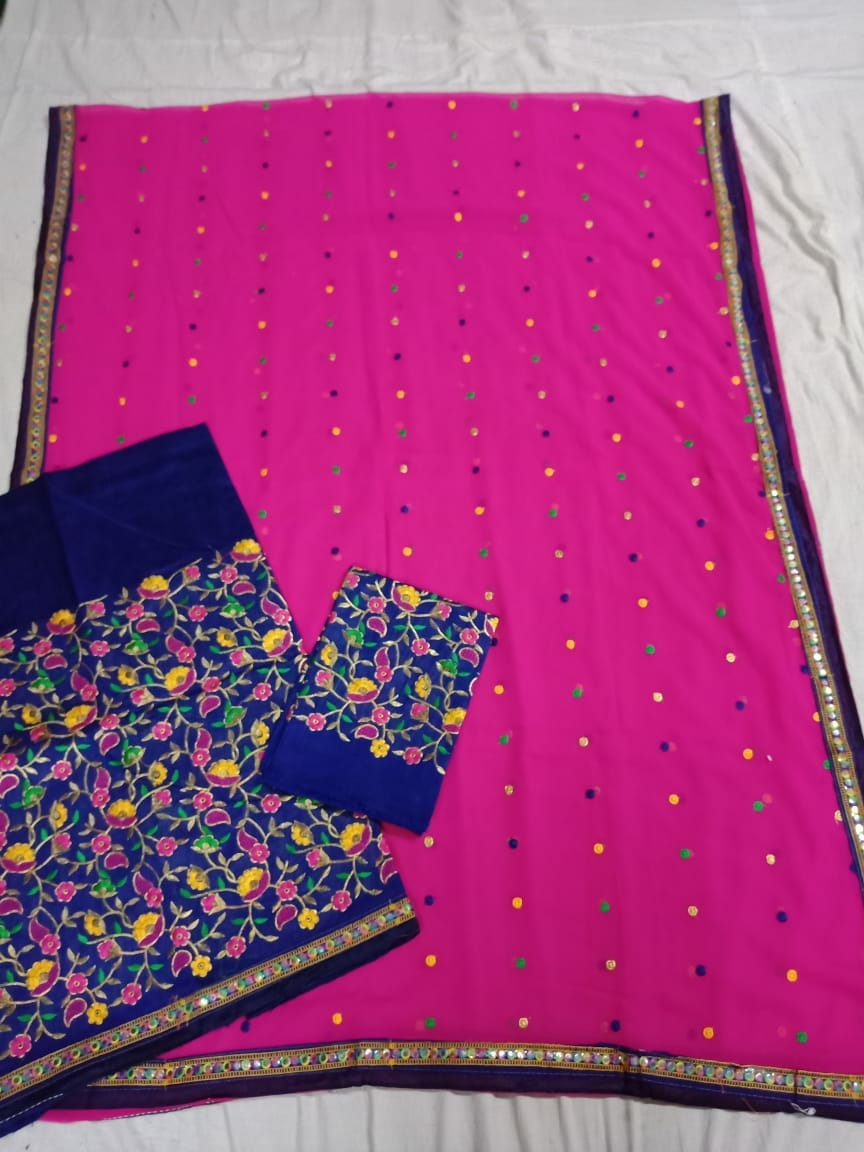 Chanderi cotton mekhela sador